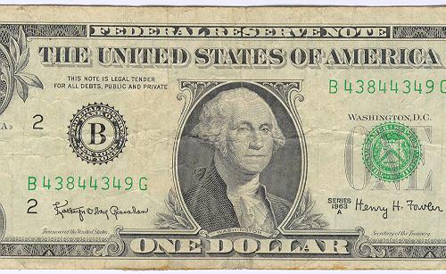 $5 U.S. FIVE DOLLARS