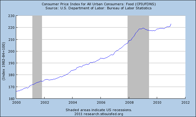 Inflation Is Here – Just Open Up Your Eyes And Look At These 5 Financial Charts!  Food Inflation 2011