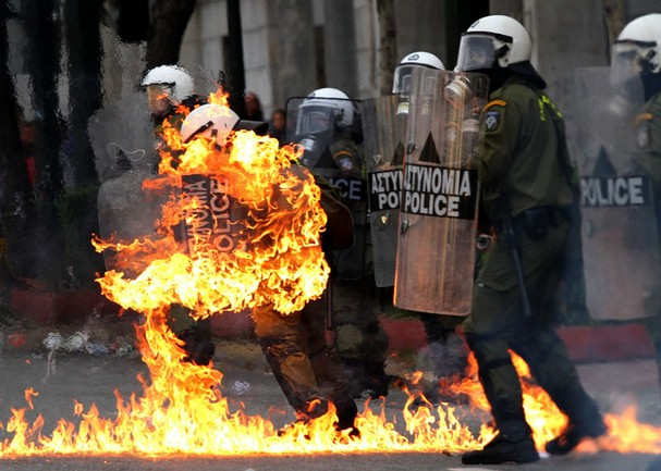 20 Signs Of Imminent Financial Collapse In Europe  Greek Riots Economic Austerity Measures