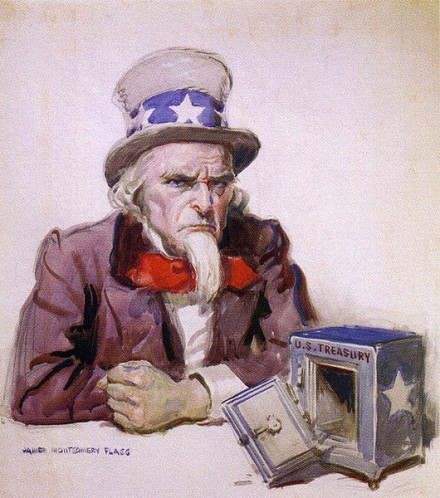 Uncle Sam 440x498 Top 40 Taxes Govt Counts On   All Tribute Payments to IRS Leave America