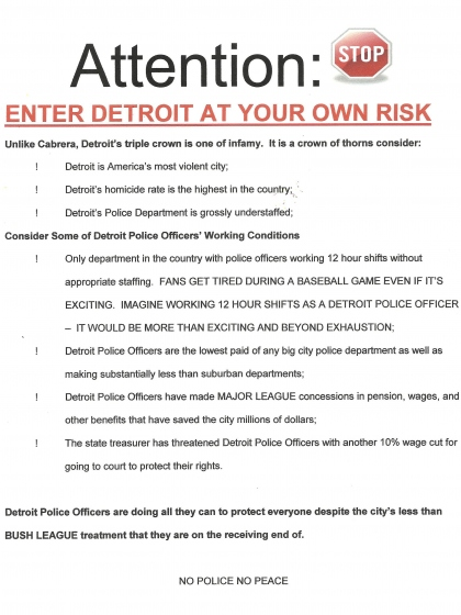 Police: Enter Detroit At Your Own Risk Enter At Your Own Risk