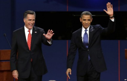 Obama And Romney Both Favor A One World Economic System That Kills American Jobs | Mitt-Romney-And-Barack-Obama-425x272 | Business Economy Economy & Business Global Bankster Takeover Globalism Government NAFTA News Articles Obama Exposed Politics US News