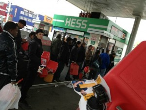 Anarchy Along The Jersey Shore And On Long Island In The Aftermath Of Hurricane Sandy Hurricane-Sandy-Hess-Gas-Station-On-Long-Island-Posted-By-Sam-Lembeck-On-Twitter-300x225