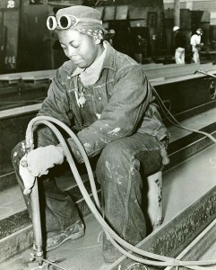 A Hard Working American Worker In 1943