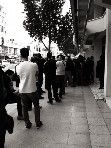Cyprus Bank Run - Photo Via @jkozakou