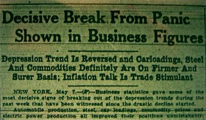They Denied That We Were In A Depression In 1933 And They Are Doing It Again In 2013 Great Depression Headlines 425x247