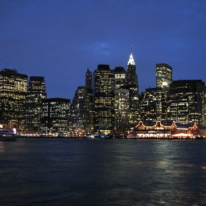 Lower Manhattan At Night - Photo by Hu Totya
