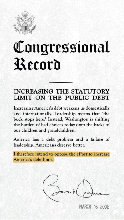 12 Very Ominous Warnings About What A U.S. Debt Default Would Mean For The Global Economy Obama Debt Ceiling 425x755