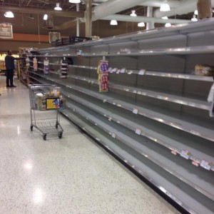 Bread aisle of a Kroger in the Atlanta area - Posted on Twitter by Kris Muir