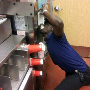 Wendy's Employee Enjoying A Frosty