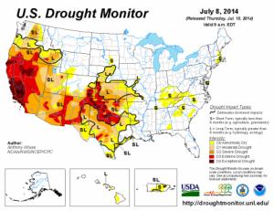 Drought Monitor July 8 2014