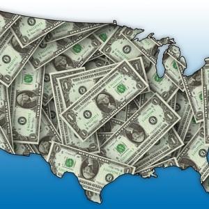 U.S. Map Money - Public Domain