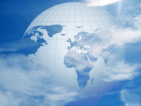 Globo de la tierra del planeta Cielo Mundial - Dominio Público