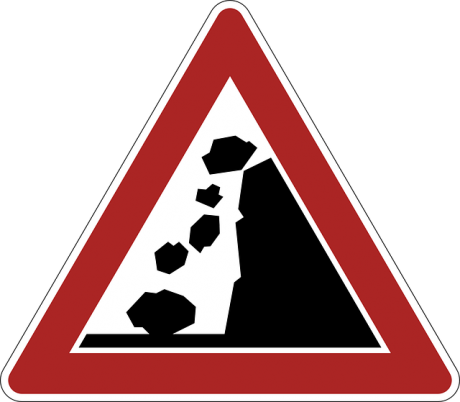 Crash Warning Danger Sign