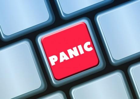 Panic Button On Keyboard - Public Domain