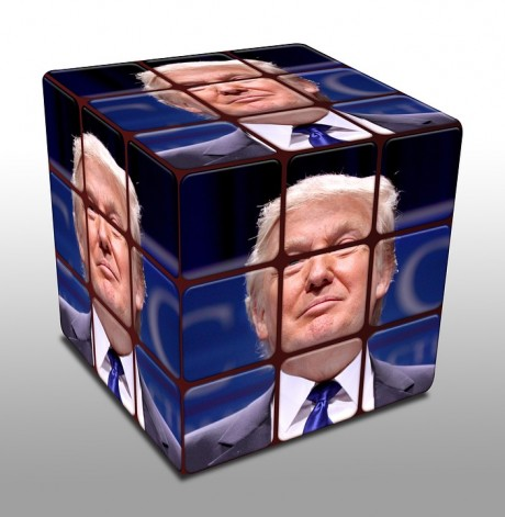 Donald Trump Cube - Public Domain