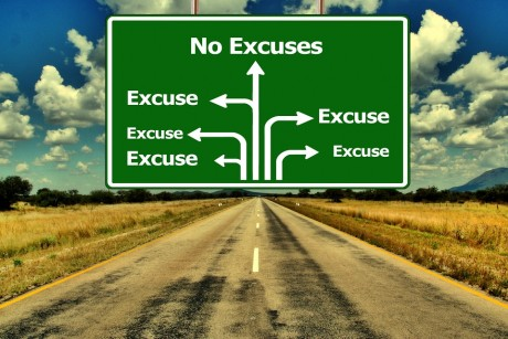 No Excuses Road Sign - Public Domain