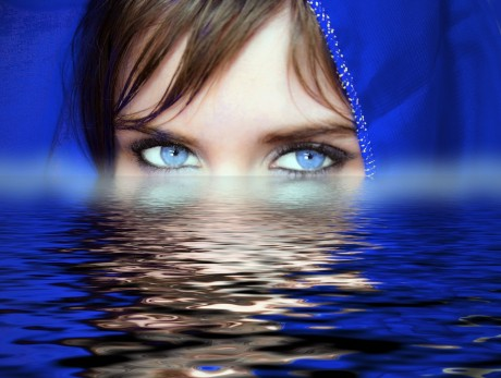 Woman Eyes Water - Public Domain