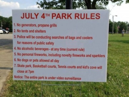 July 4th Park Rules